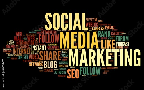 Social media marketing in tag cloud