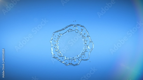 Water drop falling. HD. Alpha.
