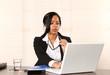 Businessfrau beim arbeiten