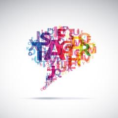 Abstract colorful dialog bubble # Vector