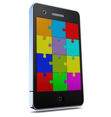 phone mit apps als Puzzel
