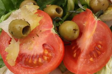 Salade tomate olives - Recette provençale