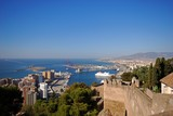 Alcazaba and port area, Malaga, Spain © Arena Photo UK