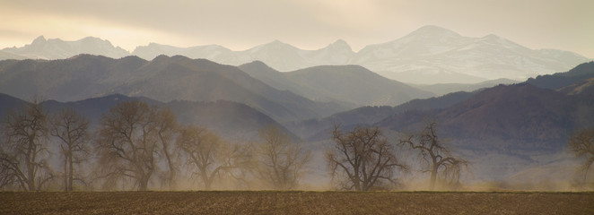 Boulder County Colorado Layers Panorama