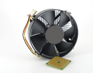 Processor and fan with radiator