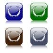 Lorbeerkränze - Buttons