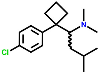 Sibutramine (obesity treatment) structural formula
