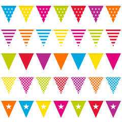5 Seamless Festoons Colour Different Pattern