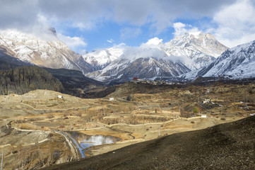 Himalaya valley panorama
