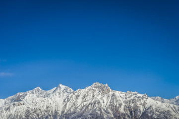 Panorama of Himalaya mountains