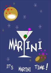martini time background poster ad