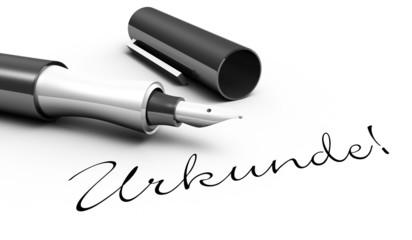 Urkunde! - Stift Konzept
