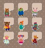 Fototapety winter animal stickers