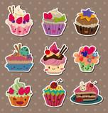 Fototapety cake stickers