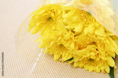Yellow Chrysanthemum in the bouquet