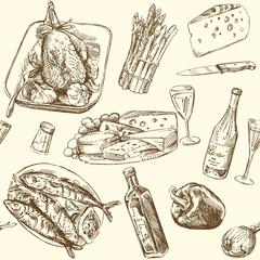 seamless pattern - food