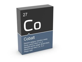 Cobalt from Mendeleev's periodic table