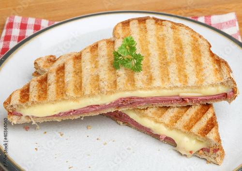 Toasted Sandwich with Pastrami & Cheese