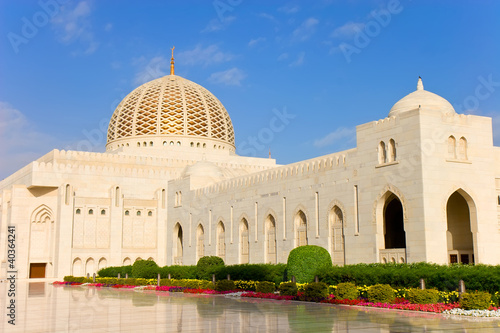Beautiful Sultan Qaboos Grand Mosque in Muscat