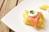 Pasta with smoked salmon - 40364422