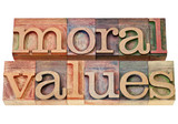moral values - ethics concept poster