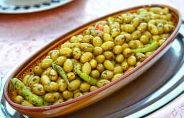 olives verte les huiles....