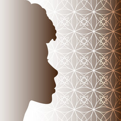 Vector Illustration of Afro Beauty with Abstract Background