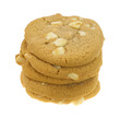 Stack of macadamia nut cookies