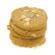 Stack of macadamia nut cookies