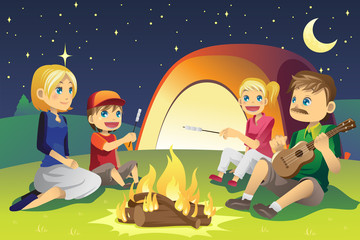 Camping family