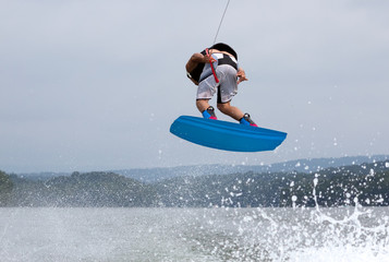 Wakeboarding Airborne 360 Degree Rotation