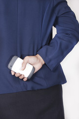 women business leadership handpone
