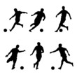Soccer, football players silhouettes