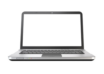 Modern laptop, notebook computer isolated on white.