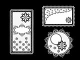 Set of vintage lace backgrounds with frame