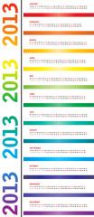 special calendar for 2013