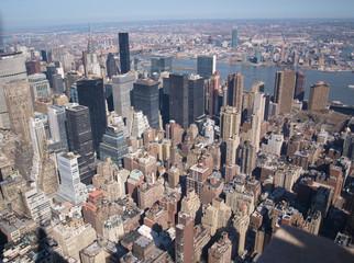 Partie de New-York vue du ciel