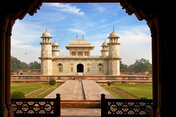 Itmad-ud-Daula's Tomb is a Mughal mausoleum. Agra, India