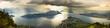 Regenschauer über Vierwaldstätter See