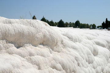 White rocks and travertines of Pamukkale Turkey