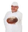 Bäcker hält kräftiges Landbrot