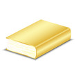 Vector illustration of gold book