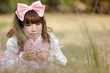 japanese lolita in meadow