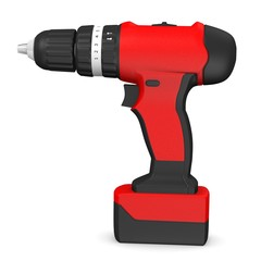 3d render of drill machine