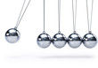 canvas print picture - Newtons cradle with five balls