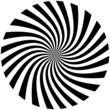 canvas print picture - spirale noire
