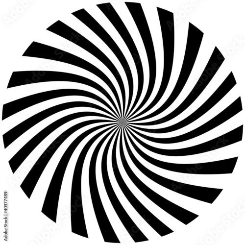 Foto op Plexiglas Spiraal spirale noire