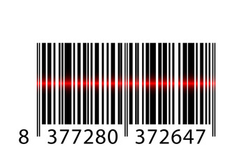 Vector barcode with laser beam