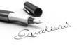 Qualität! - Stift Konzept