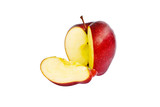 Fresh red apple isolated on the white.